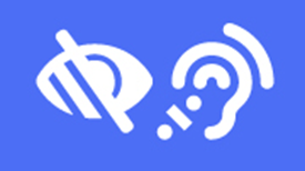 hearing and visibility accessibility icon
