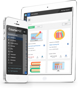 CourseMill user interface, mobile