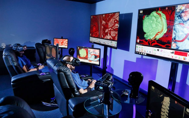 Students at Stanford University learning through VR