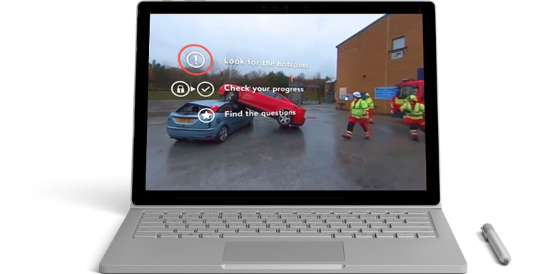 CenarioVR on a Surfacebook
