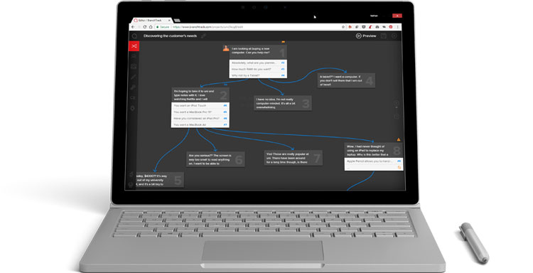 BranchTrack on a Surfacebook