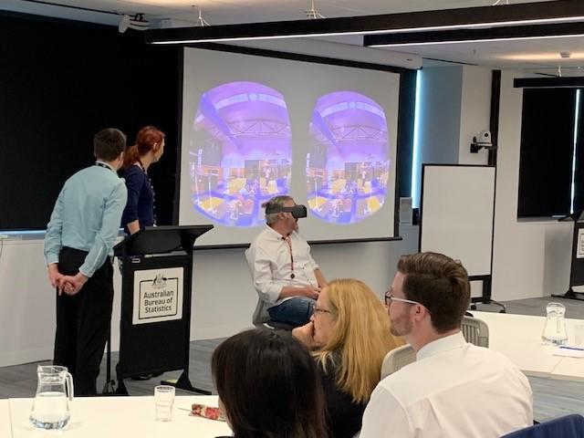 Virtual rality interactive presentation at ASADA