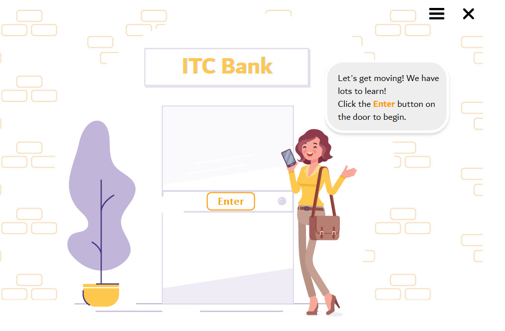 ITC Bank - Welcome Screen