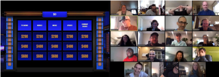 Jeopardy team based elearning gamification